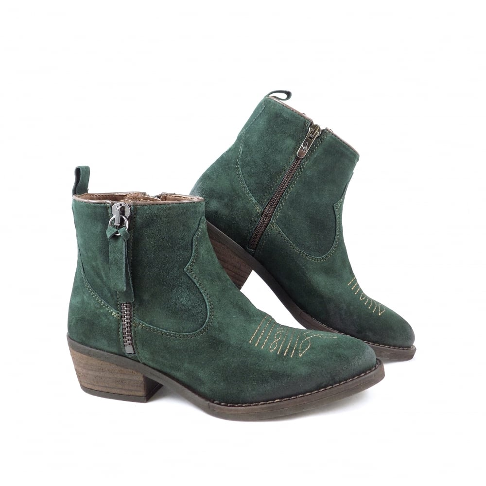 Alpe 3456 Western Style Ankle Boots in
