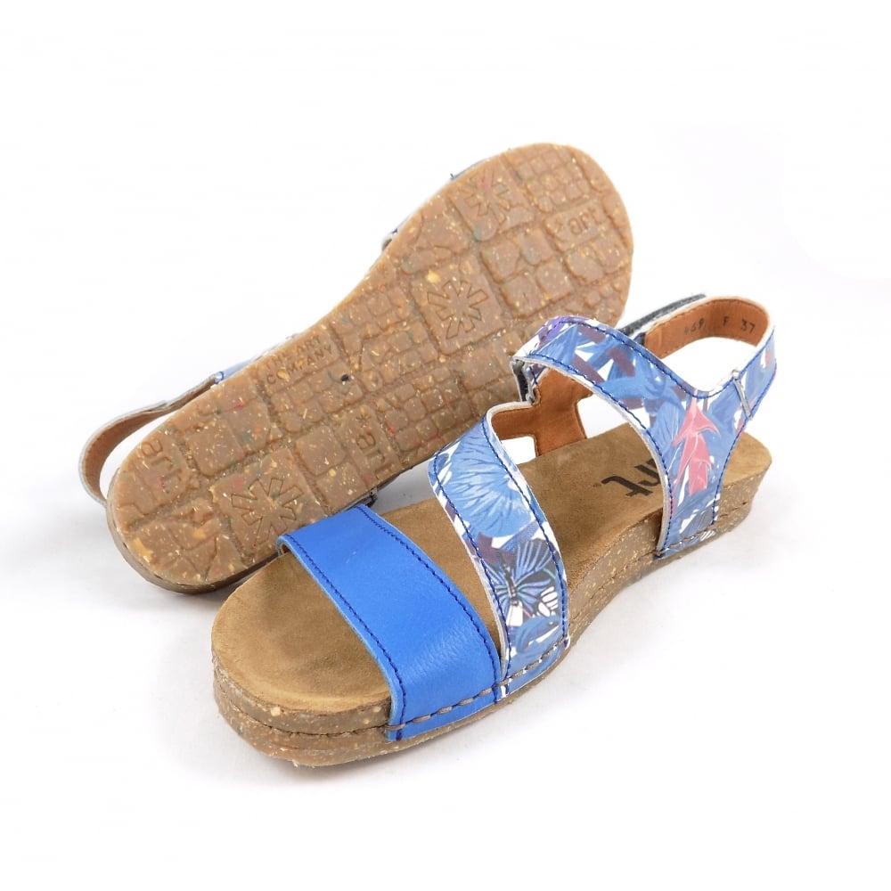 brand new addcb b7e84 Art Creta 0469F Flat Sandal with Heel Strap