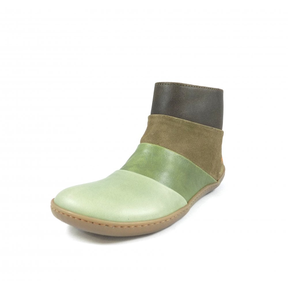 206e3050 Art Company Kio 1296 Flat Ankle Boots in Green Stripes | rubyshoesday