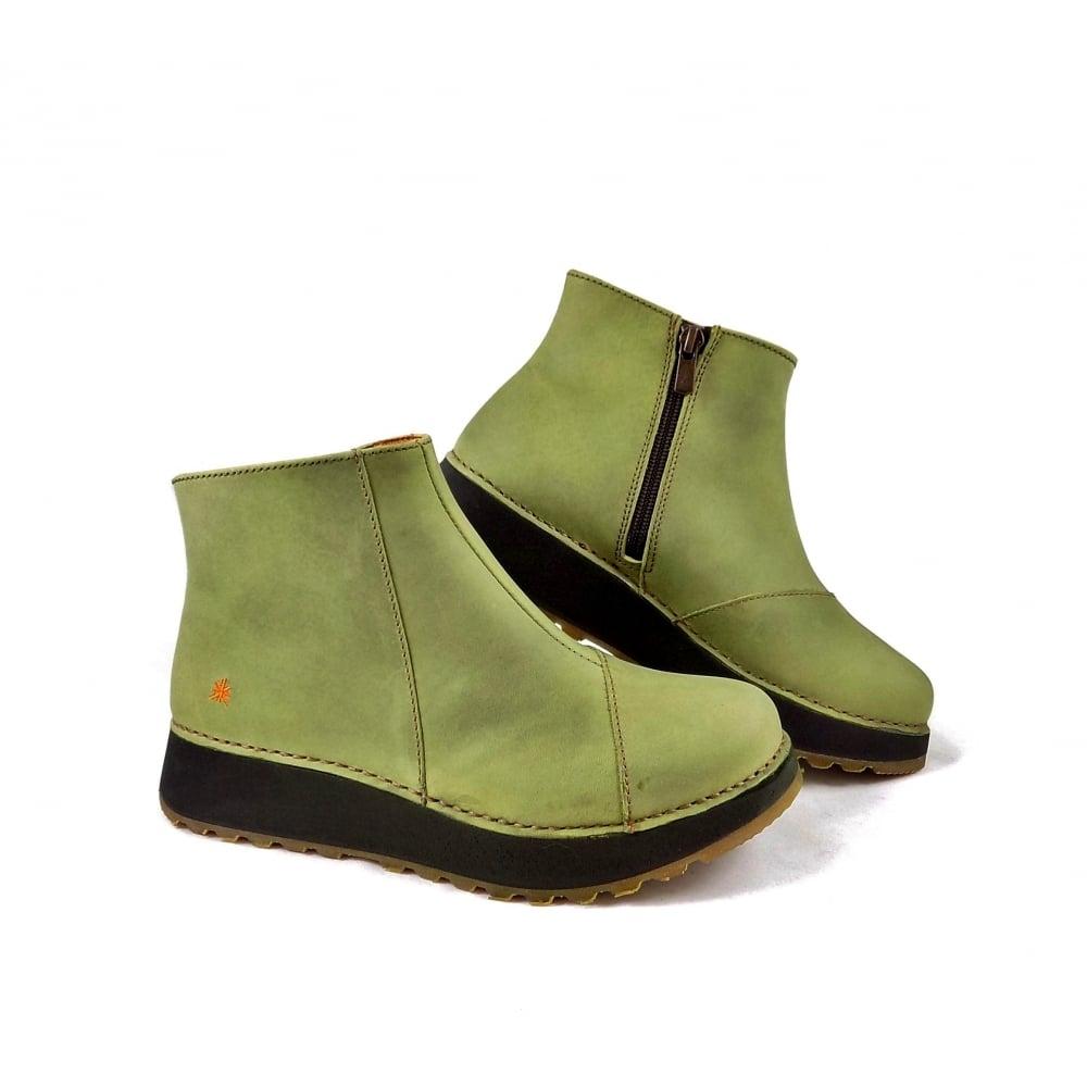 Art Company Heathrow 1022 Chunky Ankle Boots In Khaki