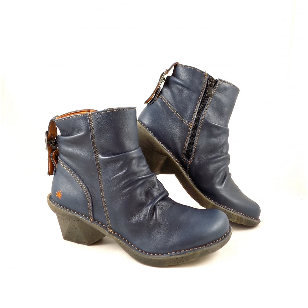c221fac7688 Art Company Oteiza 0639 Mid Heel Ankle Boots in Blue