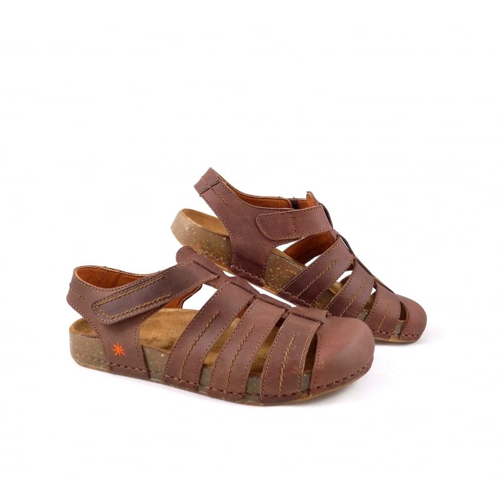 Art Company We Walk 0869 Closed Toe Sandals In Brown