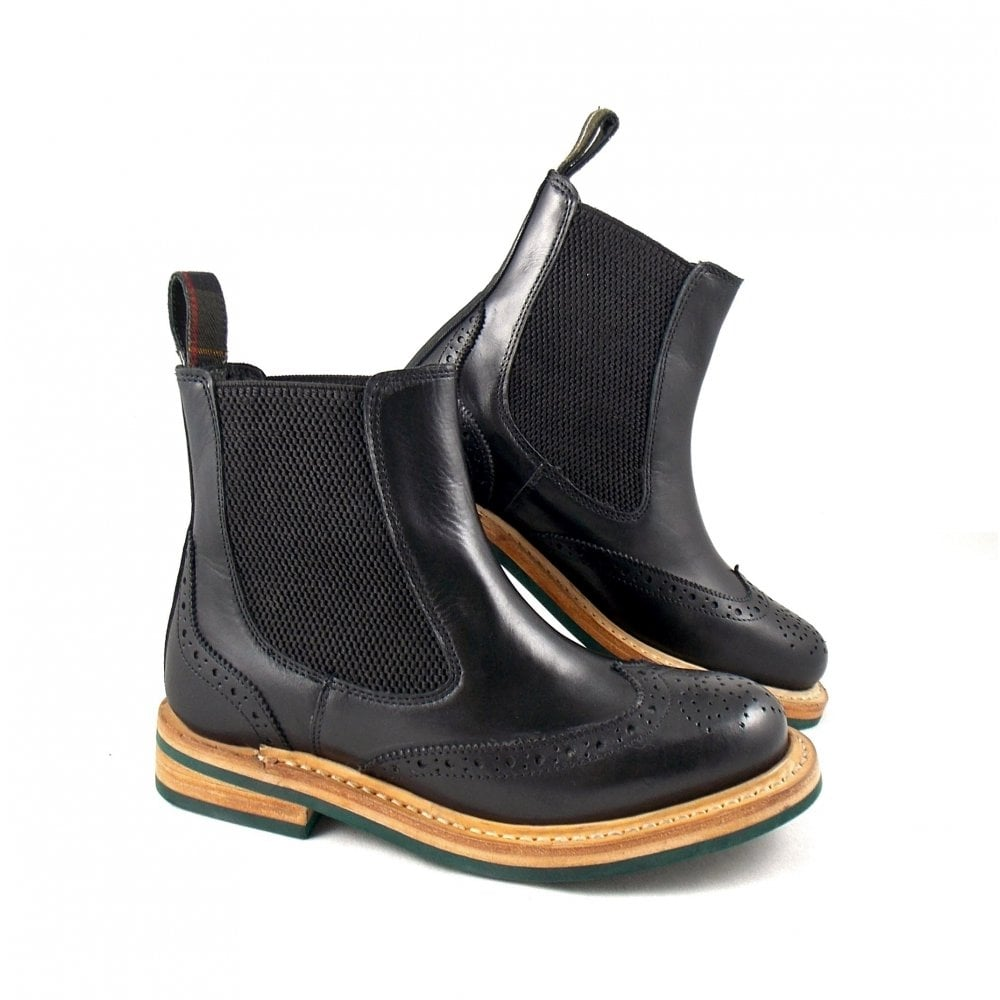 New Barbour Womenu0026#39;s Latimer Waxy Suede Chelsea Boots - Black - Free UK Delivery Over U00a350