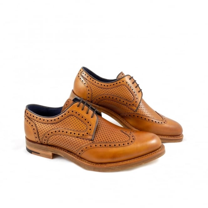 Barker Dowd Perforated Wingtip Derby Shoe