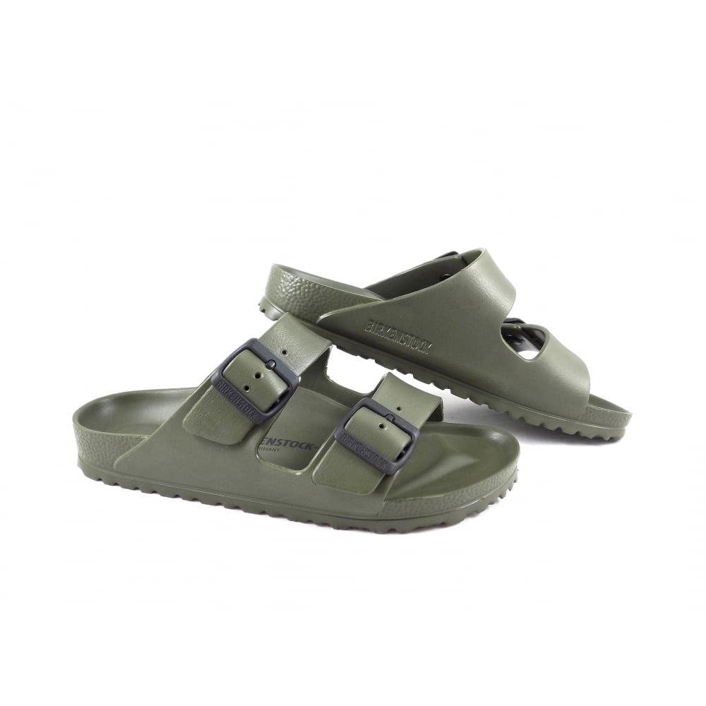 Birkenstock Arizona EVA Two Strap Sandals in Khaki  8ffd2ffdfe7