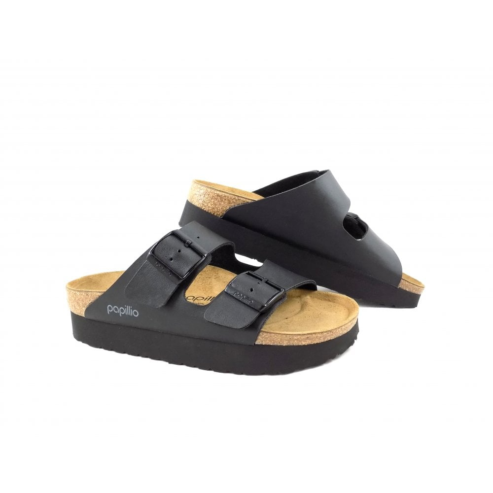 0d841b83998e5 Birkenstock Arizona Platform Two Strap Sandals in Black