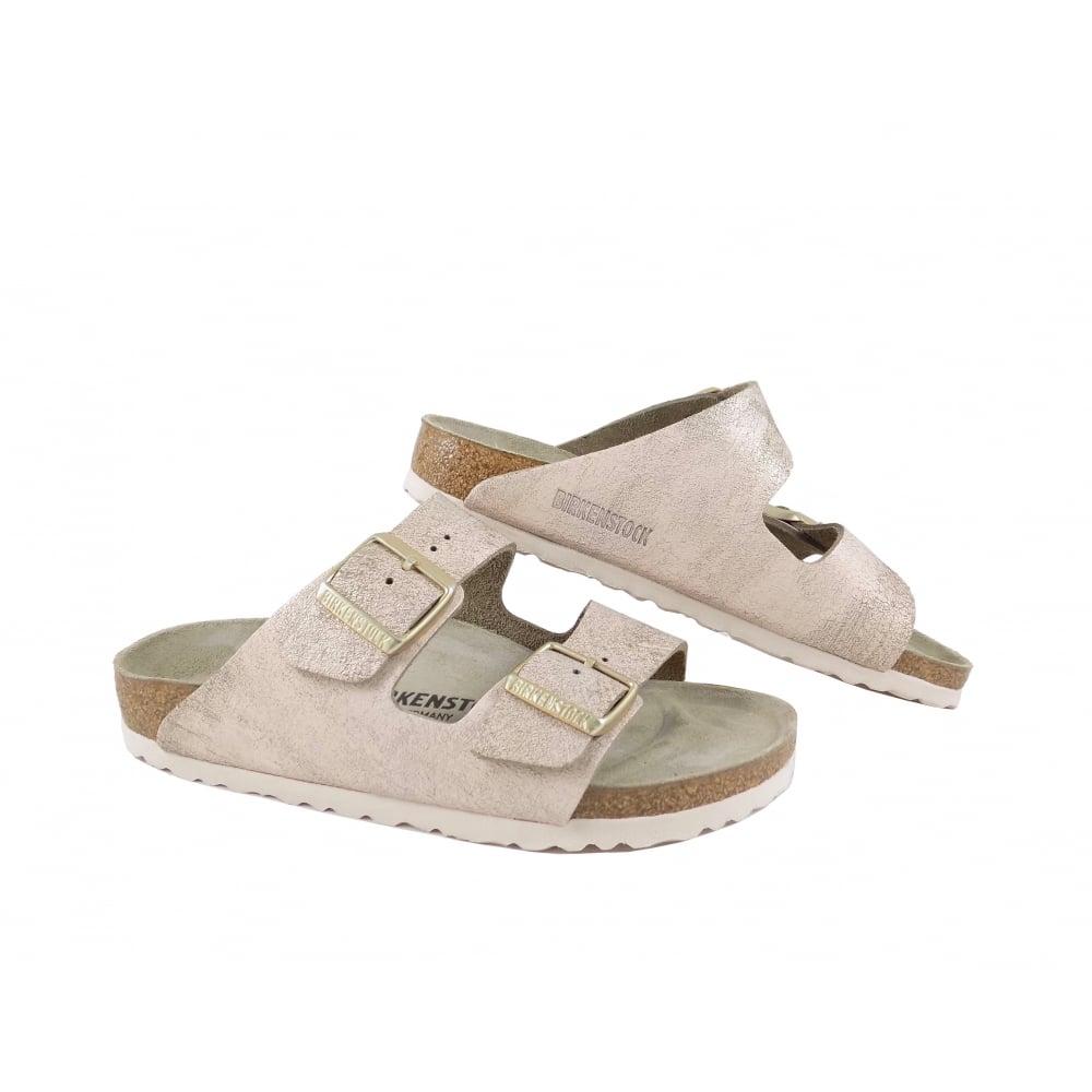 ba570bd3b09b9c Birkenstock Arizona Two Strap Sandals in Rose Gold