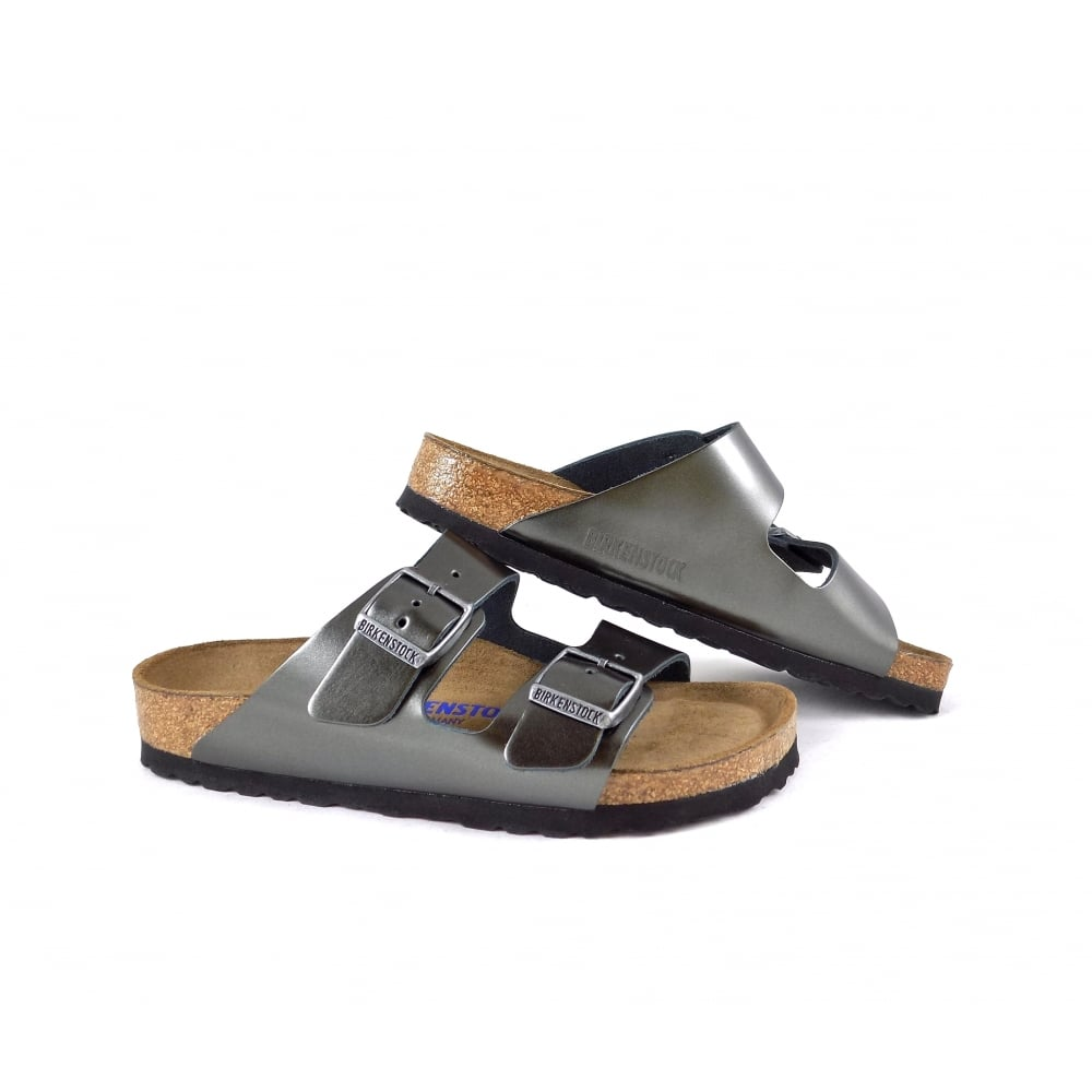 0f057bc4754 Birkenstock Arizona Soft Footbed in Anthracite Leather | rubyshoesday