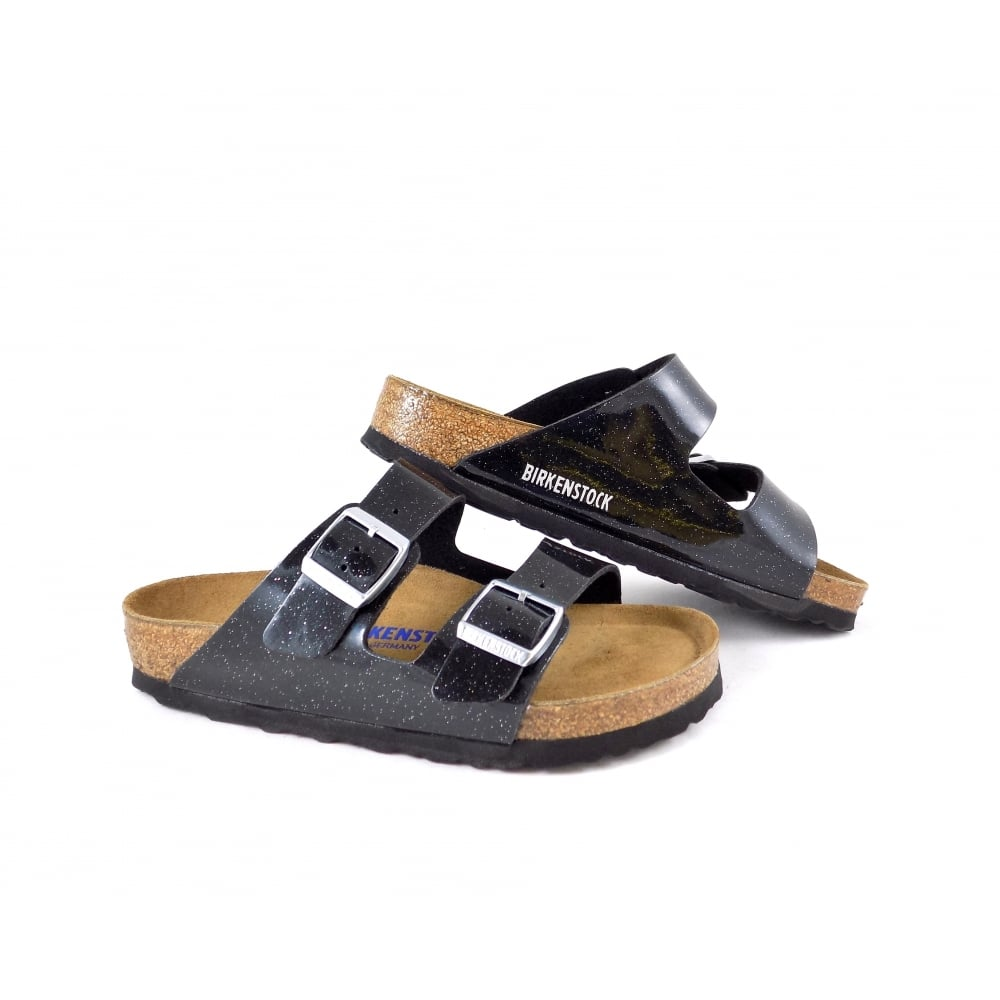 2c2f418e9582 Birkenstock Arizona Two Strap Sandal with Soft Footbed. Code  BK W Arizona  Magic Galaxy Black