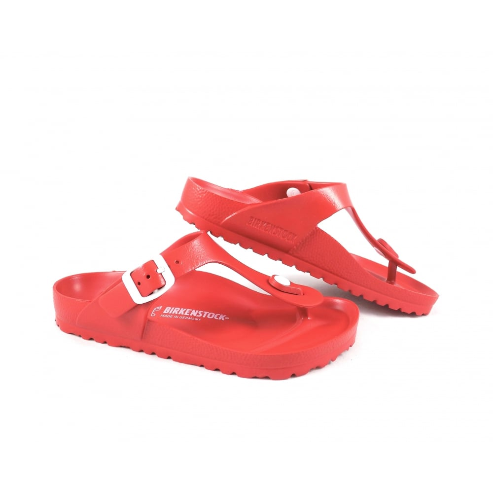 7a7c9300bb4d Birkenstock Gizeh EVA Toe Post Sandals in Red