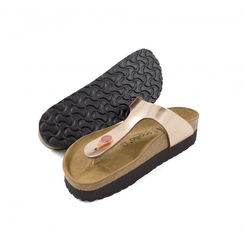 fbd2aafd09b6 Birkenstock Gizeh Toe Post Sandals in Metallic Copper