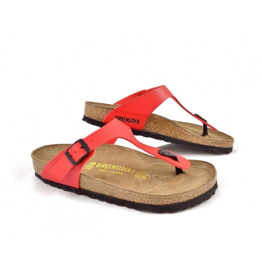 Birkenstock Gizeh Toe Post Sandals In Cherry Red
