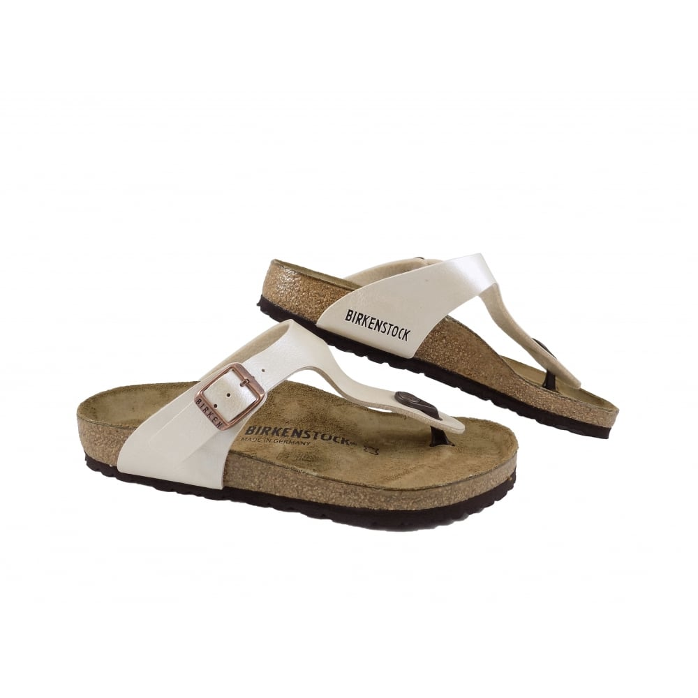 fb05a6a56dc7 Birkenstock Gizeh Toe Post Sandals in Pearl White