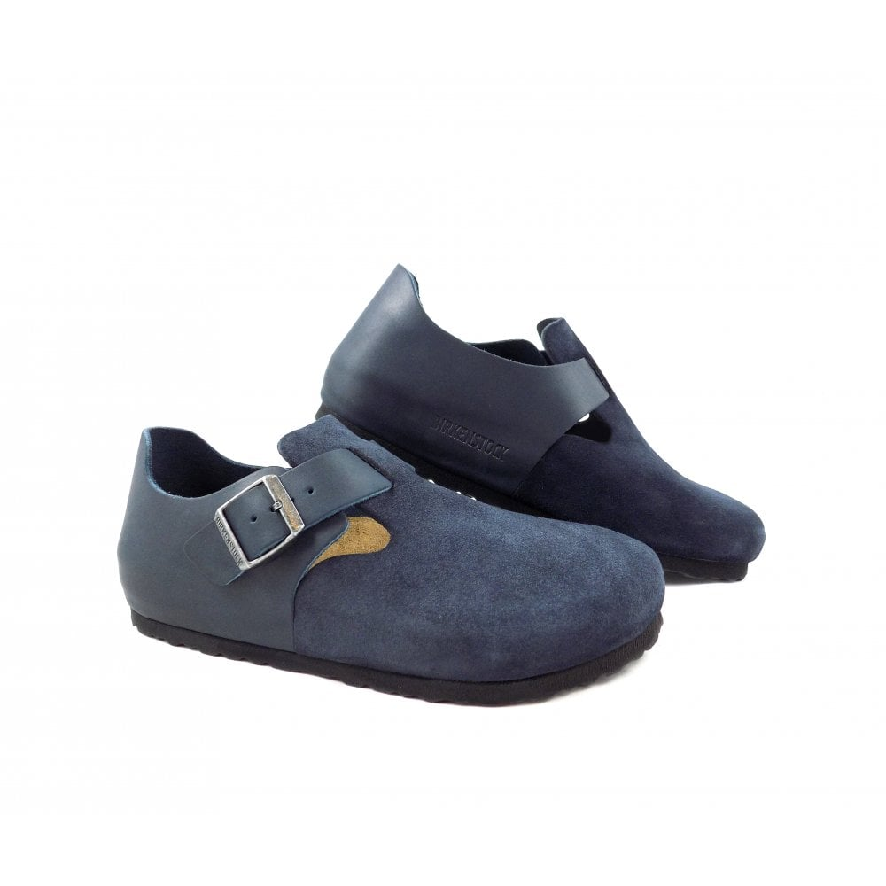 cd755463b9dc Birkenstock London Closed Shoe in Night Blue Leather