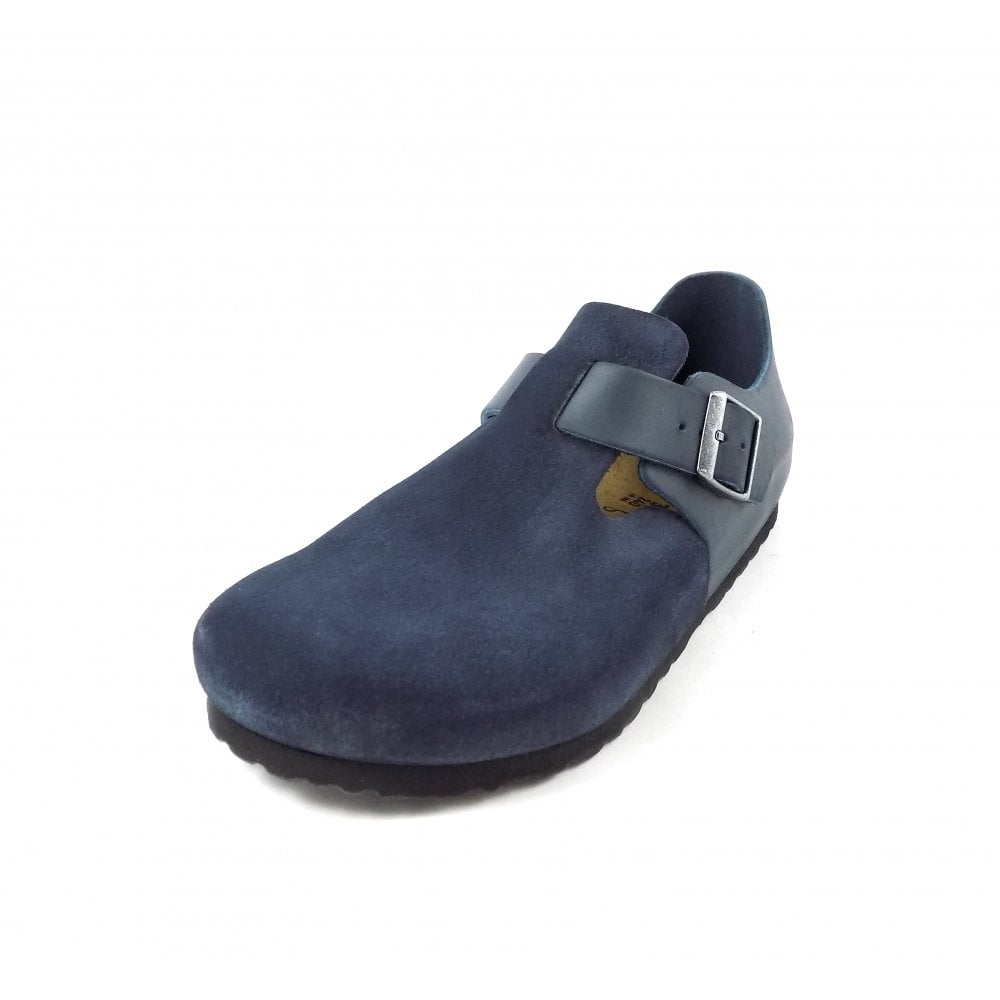 cd755463b9dc Birkenstock London Closed Shoe in Night Blue Leather