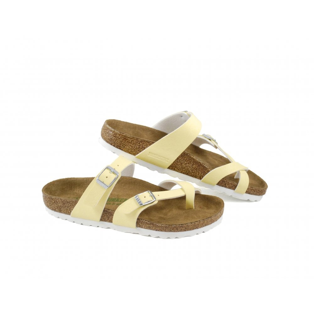 401a2511d19 Birkenstock Mayari Vegan Toe Post Sandals in Vanilla