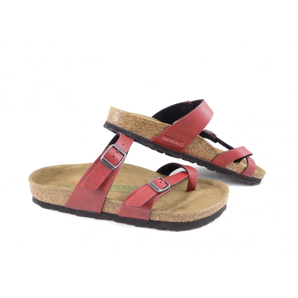 867d3adc620 Birkenstock Mayari VEGAN Toe Post Sandals in Bordeaux