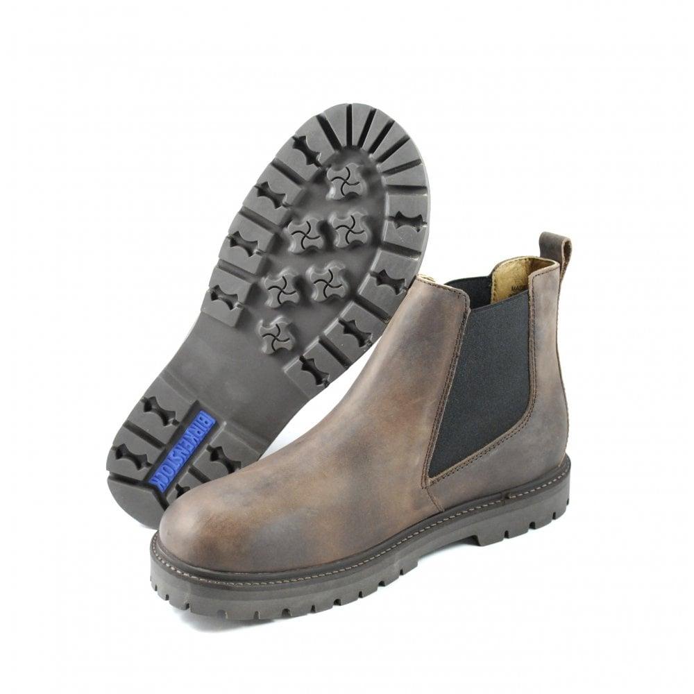 Birkenstock Stalon Pull On Chelsea Boots in Mocha | rubyshoesday
