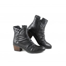 Bueno 5500 Lace Up Ankle Boots in Black