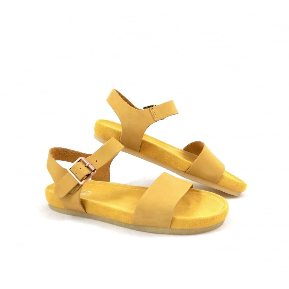clarks sandals yellow