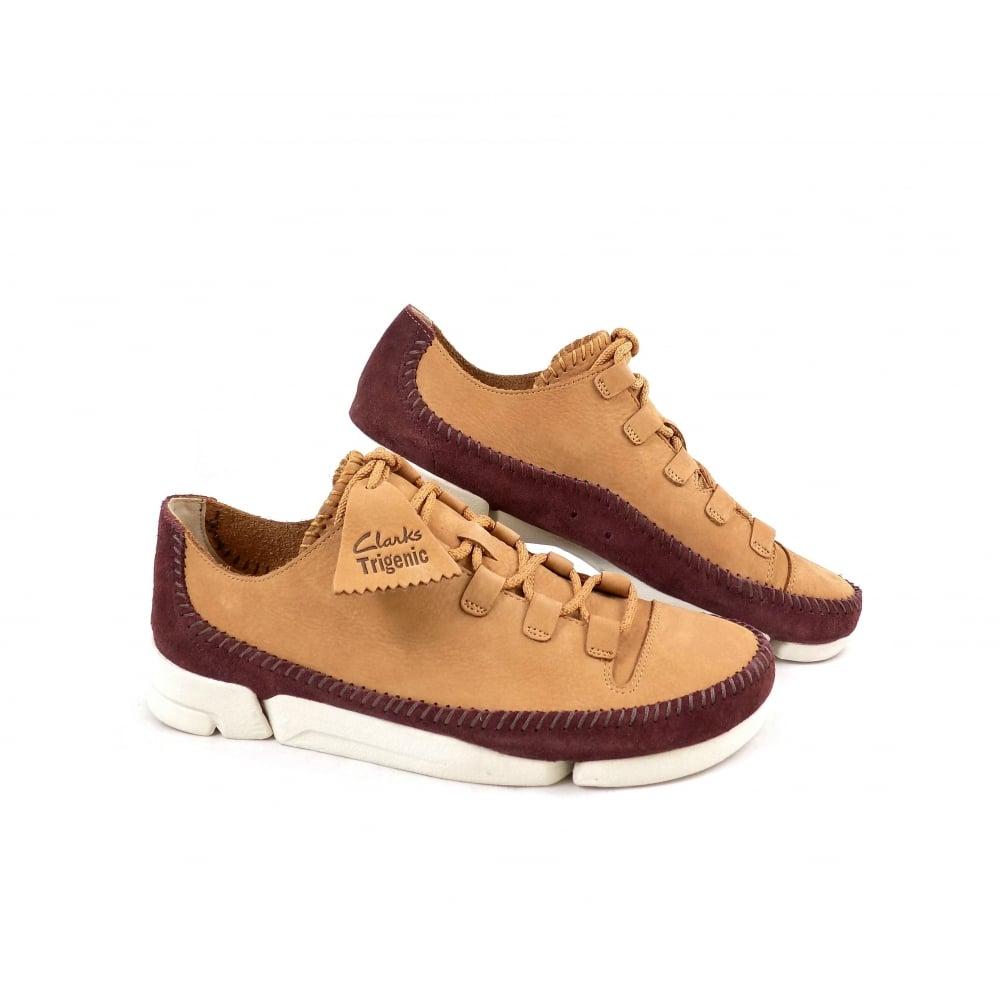 Vandalir Que agradable Café  Clarks Originals Trigenic Flex Sneakers in Fudge Nubuck | rubyshoesday