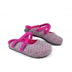 Dr Feet 2407 OT Perforated Felt Slipper with Cross Over Straps