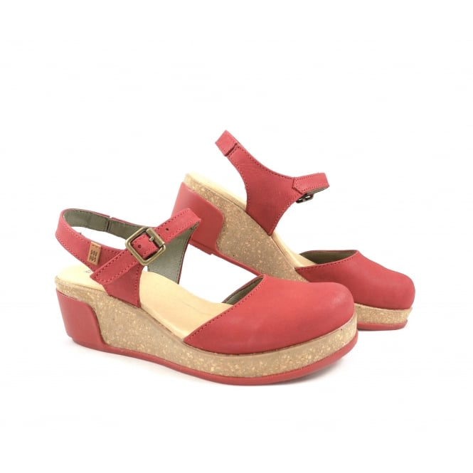 El Naturalista Leaves N5001 Closed Toe Wedge Sandal