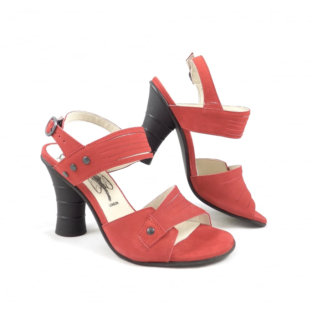 d450dfe3025 Fly London Amid High Heel Sandals in Lipstick Red