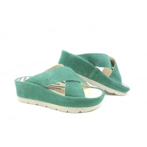 Fly London Begs Slip On Wedge Sandal