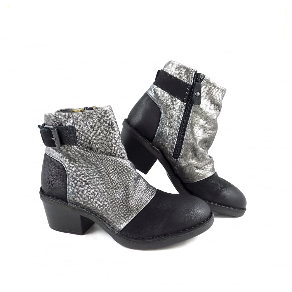 2f5f224ab9e Fly London Dape Ankle Boots with Metallic Detail