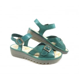 Fly London Egal Two Part Sandal with Low Wedge