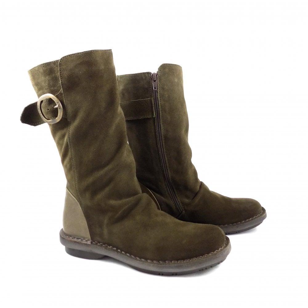 Fly London Folk Mid Calf Boots in