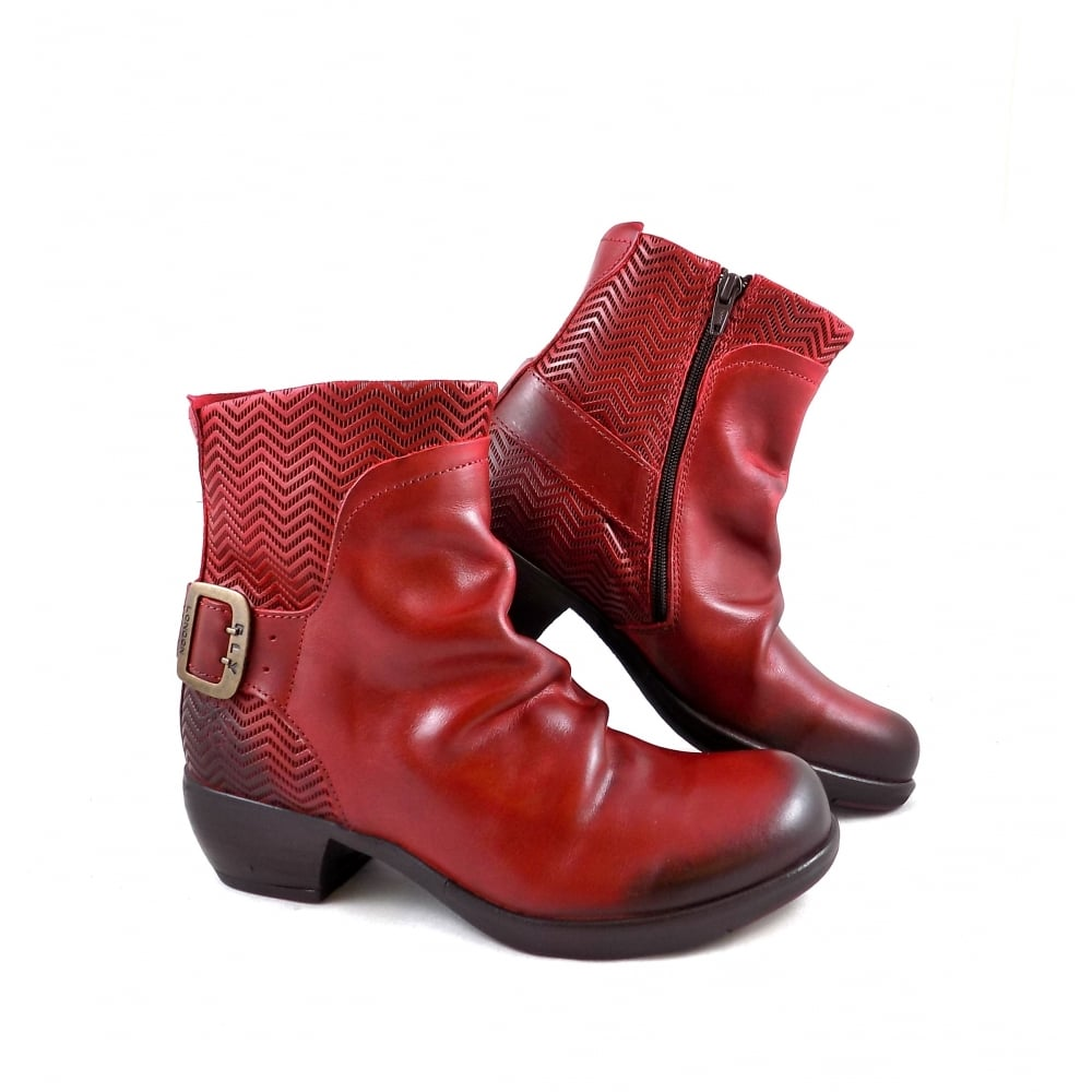 Fly London Fly London Melb Western Style Ankle Boot