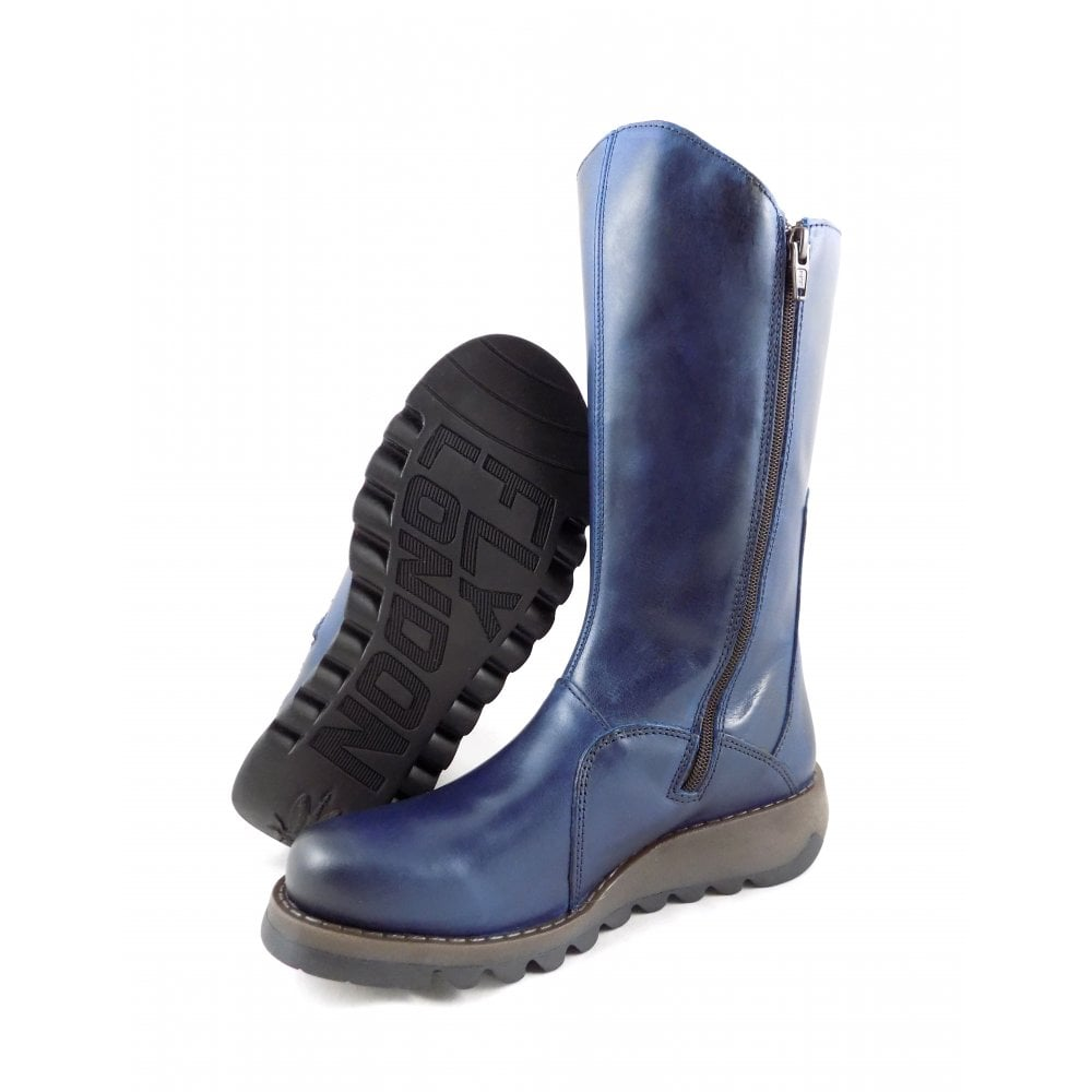 692db18f3077b Fly London Mes 2 Mid Calf Boots in Blue Leather | rubyshoesday