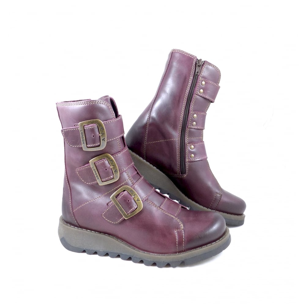 8b7581e9 Fly London Scop High Ankle Boots with Three Buckles | rubyshoesday