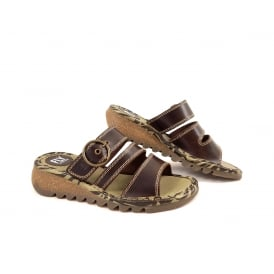 Fly London Thea Slide Sandal with Low Wedge
