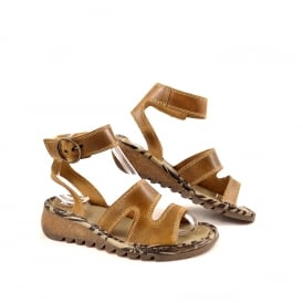 Fly London Tily Low Wedge Sandal with Ankle Strap