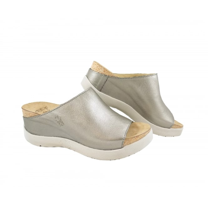 Fly London Wigg Chunky Wedge Mule