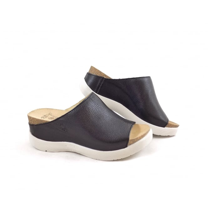 Fly London Wigg Mule with Chunky Wedge