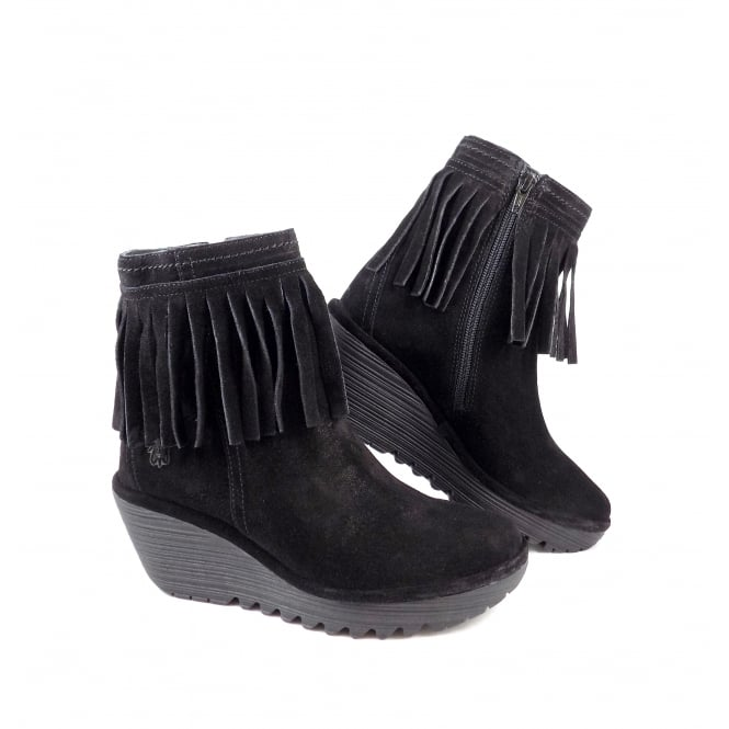 Fly London Yagi High Ankle Boot with Fringing