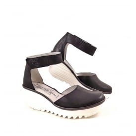 Fly London Yand Closed Toe Sandal with Contrast Wedge