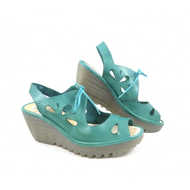 Fly London Yend Wedge Sandal with Laces