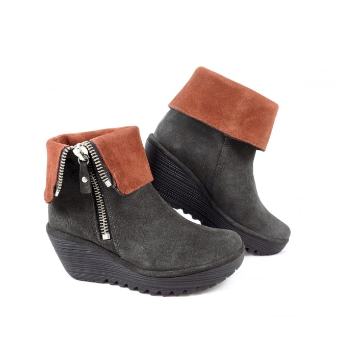 Fly London Yex Ankle Boot with Chunky Zip Detail