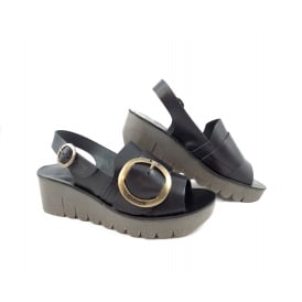 Fly London Yidi Chunky Low Wedge Sandal
