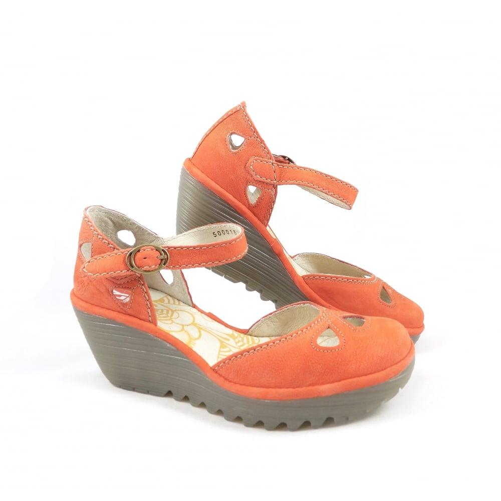 dda76aa8ad33c Fly London Yuna Closed Toe Sandals in Poppy Orange   rubyshoesday
