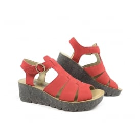 Fly London Yuni T-Strap Wedge Sandal