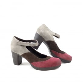 Khrio 3226 Mid Heel Shoe with Slim Strap