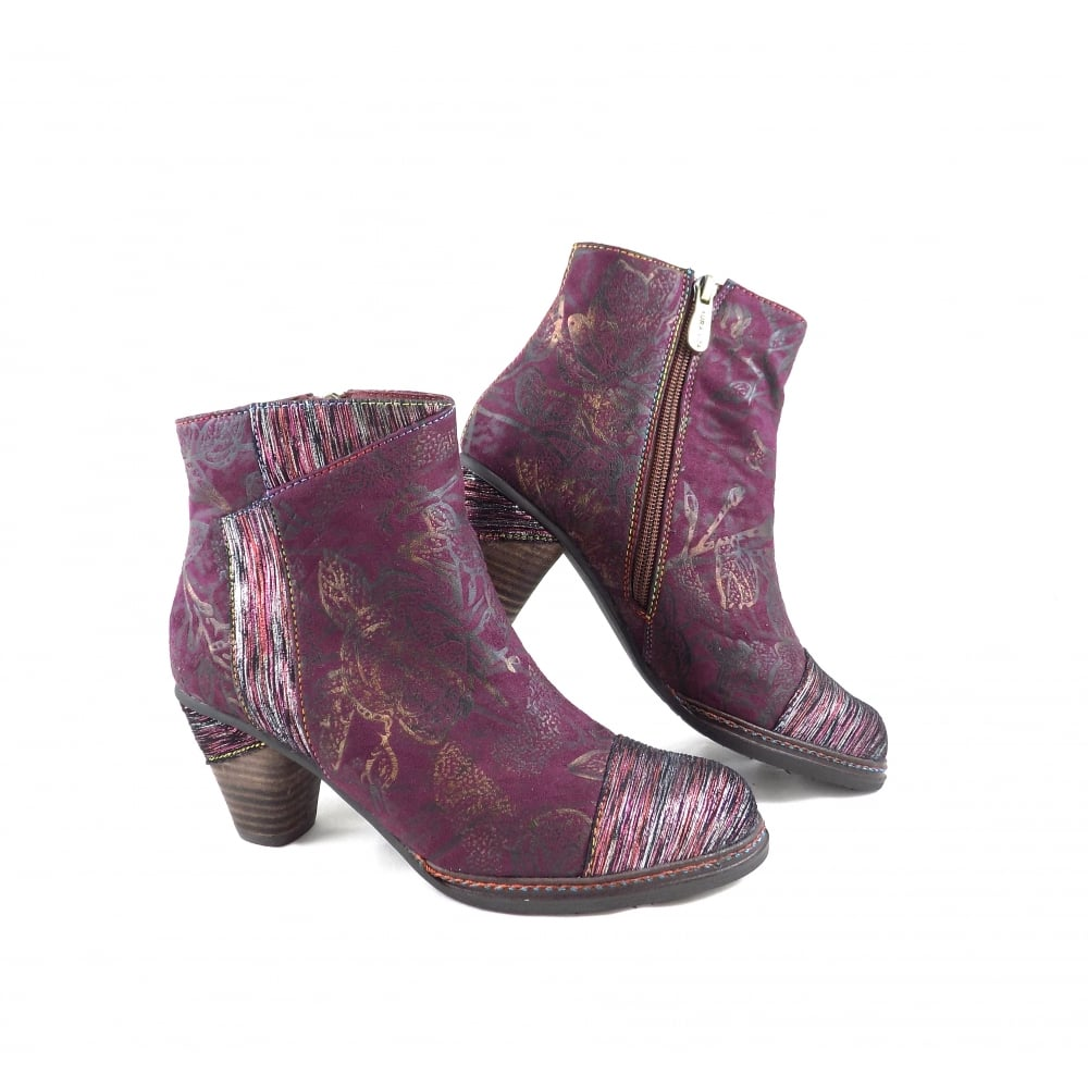 affordable price skate shoes clearance prices Laura Vita Laura Vita Alizee 06 Mid Heel Ankle Boot with Panels