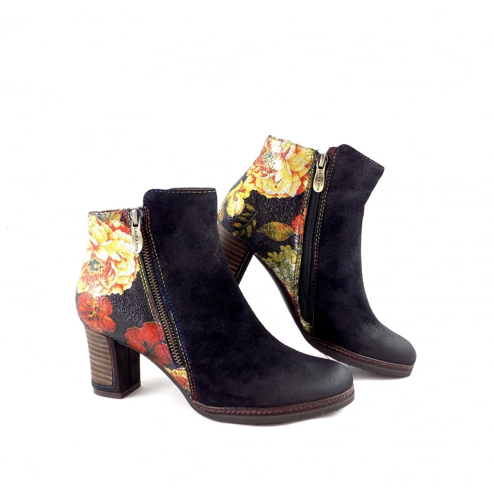 laura vita angela 14 mid heel ankle boot in black rubyshoesday. Black Bedroom Furniture Sets. Home Design Ideas