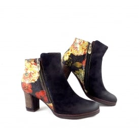 Laura Vita Angela 14 Floral Print Ankle Boot